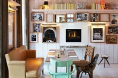 10 Decorating Ideas to Steal from the World's Most Stylish Restaurants. Cocotte - Paris (I have to figure out how to modify the pastel-ity)