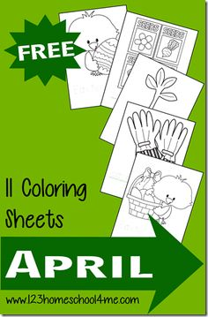 FREE Spring Coloring Sheets - perfect for preschool and toddlers in April