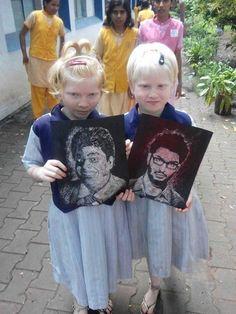 Estas niñas ciegas de la India han recaudado miles de dólares haciendo pinturas en braille