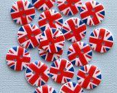 15 UK Flag Buttons British Union Jack Pattern B78