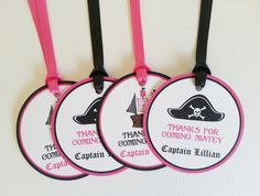 Girl Pirate Favor Tags  Birthday Party Decorations by LittleMavens, $10.80