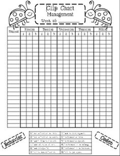 Good Behavior Chart   Vertical Home Office