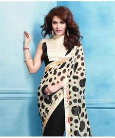 Jacquard Georgette Saree with Blouse   I found an amazing deal at fashionandyou.com and I bet you'll love it too. Check it out!