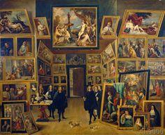 David Teniers - Der Erzherzog Leopold Wilhelm in seiner Gemäldegalerie zu Brüssel
