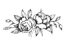 "Vintage fans will love our Black Roses Temporary Tattoo. This custom tattoo is a detailed design of black roses and is perfect for everyday use. - Tattoo Size 3"" x 6"" - 2 Tattoos Included"