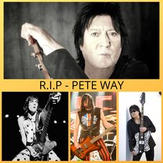 R.I.P Pete Way, legendary bass guitarist from the rock band UFO, died aged 69, another of my musical heroes from my youth gone too soon!  #peteway  #ufo www.vinylelite.co.uk How To Remove, How To Apply, Gone Too Soon, Heavy Rock, Rare Vinyl, Rock Music, The Rock, Ufo, Rock Bands