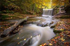 Clywedog Falls in North Wales in Autum