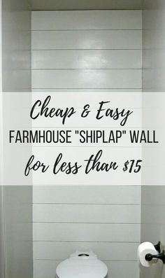 We're going to walk you through the steps on how to install a faux shiplap wall on the cheap. You'll be amazed by the transformation the shiplap wall made.
