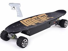 MotoTec Street Electric Skateboard goe sup to 19 mph! What a great gift for kids. Remote Control Skateboard, Skateboard Online, Electric Skateboard, Belt Drive, Sports Toys, Cool Bicycles, Extreme Sports, Skateboards, Cool Gadgets