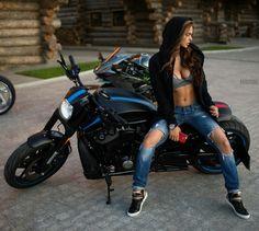Hoodie Biker Babe