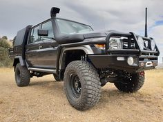Another graphite cruiser ✔️ Another Jmacx coil conversion ✔️ Another Hunted tray ✔️ 😎😎 Toyota 4, Toyota Trucks, 4x4 Trucks, Landcruiser Ute, Landcruiser 79 Series, Car Goals, Van Camping, Future Car, Toyota Land Cruiser