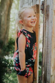 BRAND NEW {Mini Antigua Romper} on this sweet little girl   @albionfit
