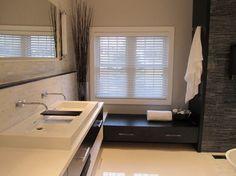 Modern Bathroom Sink Design, Pictures, Remodel, Decor and Ideas - page 3 Grey Bathrooms, White Bathroom, Beautiful Bathrooms, Small Bathroom, Master Bathroom, Bathroom Ideas, Small Storage Bench, Window Seat Storage, Bathroom Sink Design
