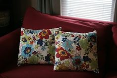 Can't find a throw pillow you love? DIY!! So simple and you're going to love them!