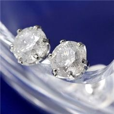 PT0.8ctダイヤモンドピアス - 拡大画像 Diamond Earrings, Engagement Rings, Crystals, Jewelry, Fashion, Enagement Rings, Moda, Wedding Rings, Jewlery