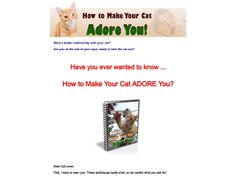 ① How To Make Your Cat Adore You. - http://www.vnulab.be/lab-review/%e2%91%a0-how-to-make-your-cat-adore-you