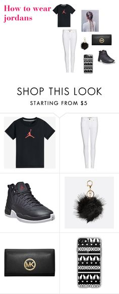 """""""How to wear jordans"""" by cameran18 on Polyvore featuring NIKE, Burberry, Avenue, MICHAEL Michael Kors and Casetify"""