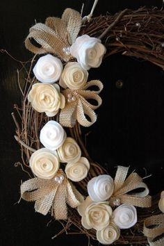 wreath.quenalbertini: Rustic Burlap Wreath | Megoirs.WordPress