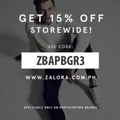 Hi guys! Check out Asia's online fashion gift shop > www.zalora.com.ph  They have up to 60% OFF on the season's latest and greatest items, aaaand I got you another 15% discount, just enter code ZBAPBGR3  Happy shopping gentlemen!!! Enjoy!  Hurry up promo runs from 29th of May to 31st. #mayweshop