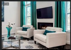 Contemporary Living Room Curtains With Photos Dp S And K Interiors Gray Contemporary Living Room Turquoise H Jpg Rend Hgtvcom 1280 . Home Design Decoration site Curtains Living Room, Home, Contemporary Living Room, Interior Design Styles, Room Colors, Living Room Inspiration, Home Interior Design, Interior Design, Living Decor