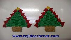Como tejer un arbolito de navidad en tejido crochet, tutorial paso a paso.