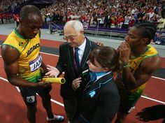 Usain Bolt asks the official if he can keep the baton after winning the relay Usain Bolt, Olympic Games, Wrestling, Lucha Libre