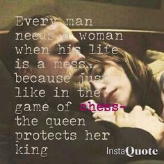 Queen protects her King...