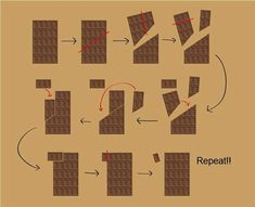 Funny pictures about How to eat chocolate indefinitely. Oh, and cool pics about How to eat chocolate indefinitely. Also, How to eat chocolate indefinitely. Funny Shit, Hilarious, Funny Quotes, Funny Memes, Jokes, Choclate Bar, Weird Facts, Fun Facts, Useful Life Hacks