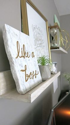 Like a Boss | Lonely Island Boys Song | Paint on marble | Marble and Gold Office | Mint Green Office | Mint Green and Gold | Details | Mid-Century Modern Office | Geometric Office | Marble Themed Office | Gold and Marble Home Decor | Mint Green Home Decor