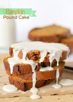 Pumpkin Pound Cake topped with Orange Glaze ~ yummy recipe!