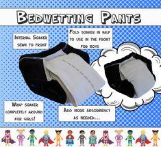 ECO-FRIENDLY bedwetting pants, nighttime underwear, potty training.  No more nighttime pull-ups!