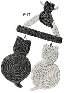Cat Potholder free crochet pattern