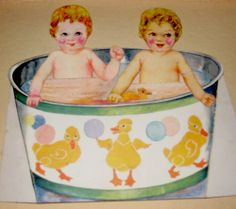 Twinnies in their Bath by Pennelainer, via Flickr