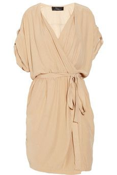 wrap silk dress, robert rodriguez >> This looks so easy to wear!