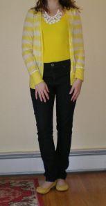 Boyfriend cardigan, skinny jeans