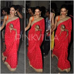 Yay or Nay : Deepika Padukone takes her Sabyasachi saree for another spin