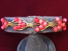 Free S - Phenomenal Handcrafted Pink Coral & Gold Bracelet - A JewelryArtistry Original - BR200             $25.98