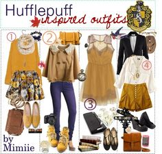 """""""Hufflepuff. ♥"""" by the-polyvore-tipgirls on Polyvore"""