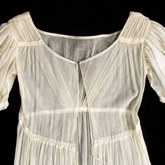 Cotton gauze dress, ca. 1815-20, KSUM 1983.1.32, inside view