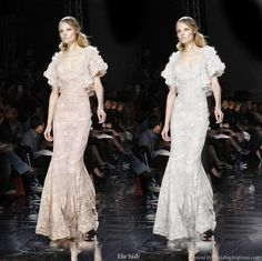 Dream Elie Saab bridal gown - Wedding Inspirasi remixed two of the designer's evening dress into one fantasy creation