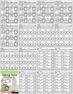 Telling time Worksheets for First Grade. So fun and educational!