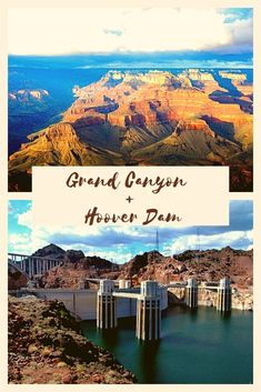 With this combined tour of Grand Canyon and Hoover Dam, you will save time as you explore these incredible places! Grand Canyon Tours, Grand Canyon Camping, Hoover Dam, Las Vegas Trip, Travel Usa, The Incredibles, Explore, Mountains, Places