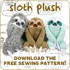 Hi everybody! Throughout a lot of last year I had many requests for a sloth plush <3 And I finally got the chance to make one! I had in my head the idea that it should have a round, bean-like bo…