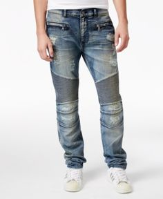 136aa2520 Reason Men Causeway Slim-Fit Moto Jeans
