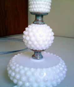 rewiring & restyling hobnail milk glass lamps