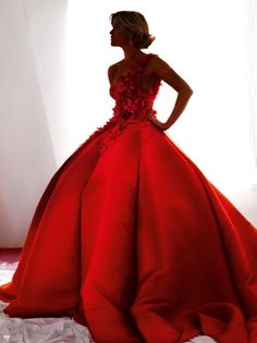 red dress-just without the big poof. More flowy skirt would make this pretty.