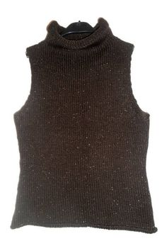 Women's knitted sweater vest SX Brown wool Knit collar Vest Wool Small sleeveless short Women clothes Gift for her Womens Knit Sweater, Red Silk, Neck Scarves, Hand Knitting, Wool Blend, Knit Crochet, Vest, Clothes For Women, Brown