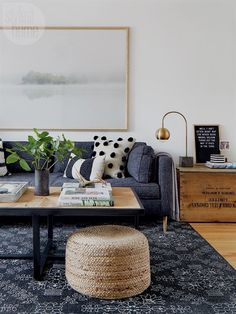 JL- I like this a lot. I wish the large painting had just a bit more color. Jordy Fagan - Cabin Co. Design #LivingRoomDecor Living Room Color Schemes, Paint Colors For Living Room, Living Room Designs, Bedroom Designs, Bedroom Colors, Living Room Interior, Home Living Room, Living Room Decor, Apartment Living