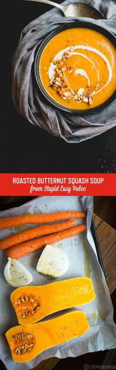 Roasted Butternut Squash Soup | StupidEasyPaleo.com autoimmune paleo lunch