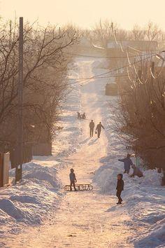 Schnee hatte ich in meiner Kindheit reichlich